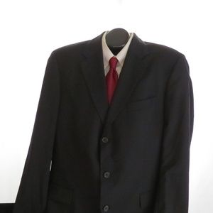 Hugo Boss Angelico Lucca Black Wool Suit 44L 36X38